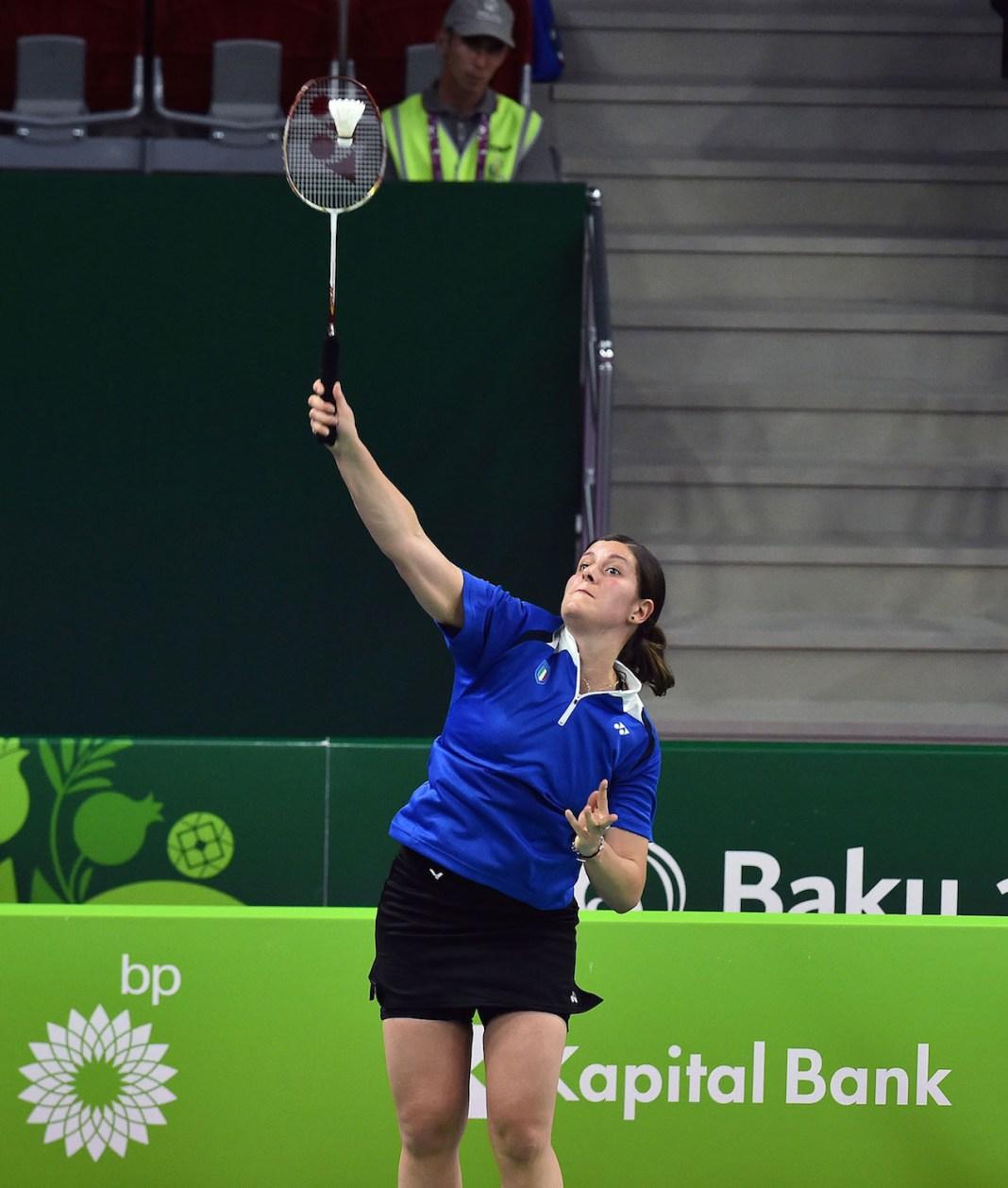Baku - Azerbaigijan 22 giugno 2015 Giochi Europei Baku2015 Prima giornata di gare per il badminton italiano. foto di Ferdinando Mezzelani-gmt