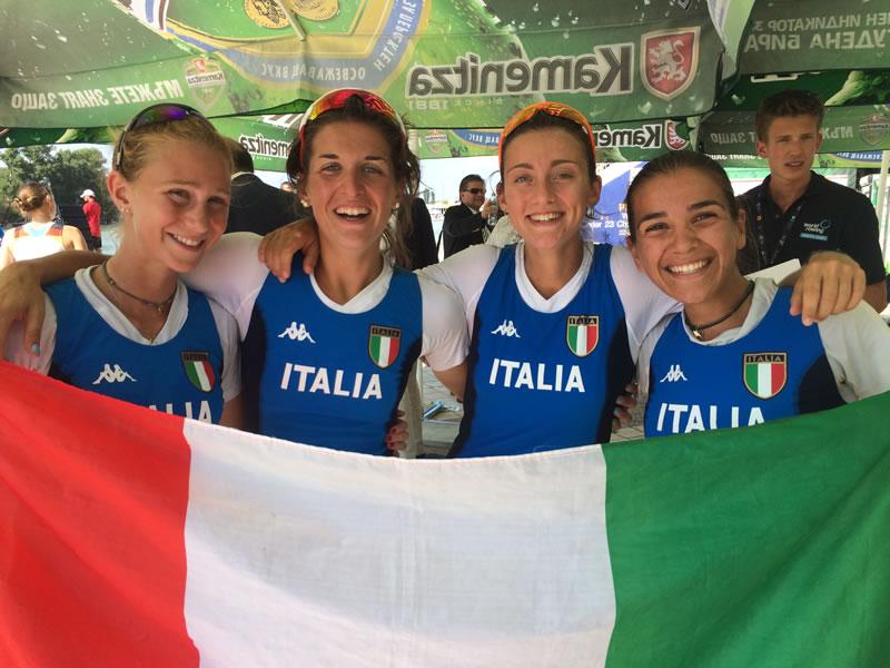 Mondiali U23 di Canottaggio, il 4 di coppia PL femminile
