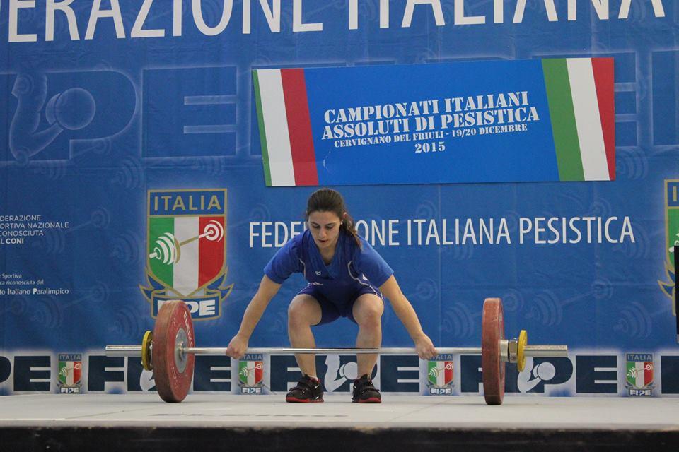 Genny Caterina Pagliaro (foto Federpesistica)