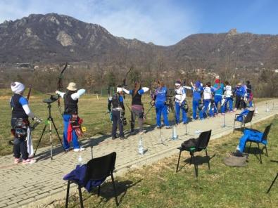 La Nazionale Olimpica di Tiro con l'Arco in raduno al CTF di Cantalupa