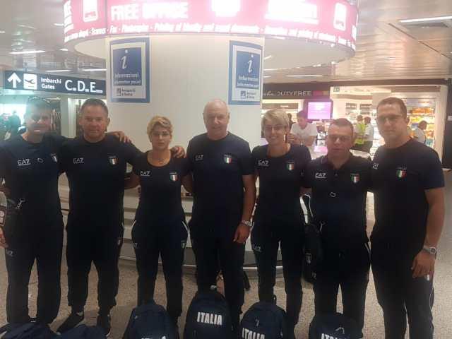 la squadra di Tiro a Volo ai Giochi del Mediterraneo