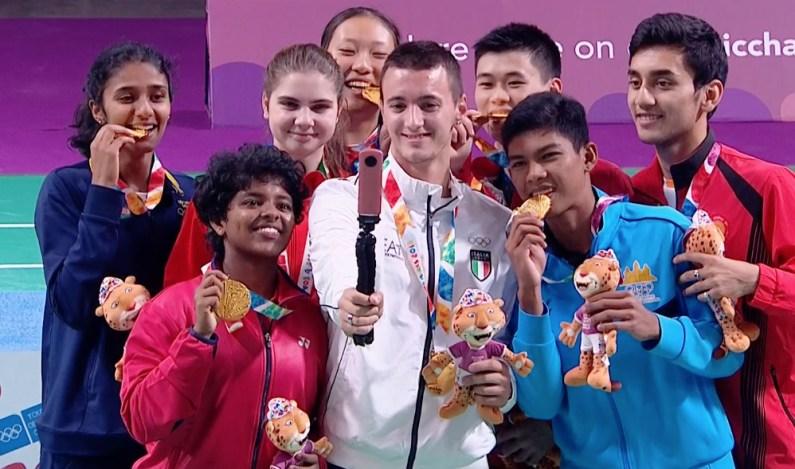 YOG 2018 – Storico oro del Badminton per Giovanni Toti nell'evento a squadre