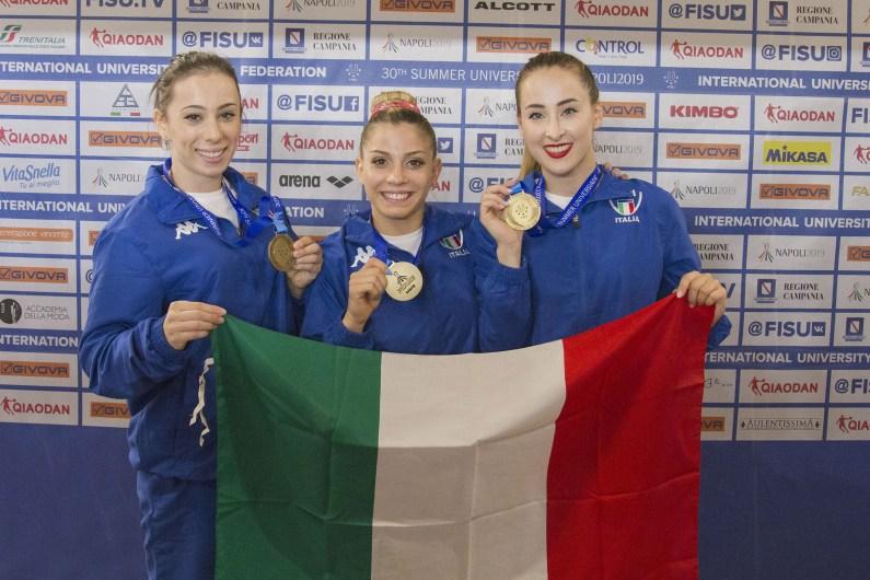 Universiade Artistica: l'Italdonne femminile bronzo di squadra