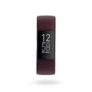 Fitbit Charge 4 Render Front Core Rosewood Clock Default Shadow