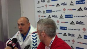 Handball-WM 2013 Serbien - Pressekonferenz am 19.12.2013 - Sasa Boskovic (Serbien - li.) - Foto: SPORT4Final