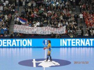 Handball-WM 2013 Serbien - Finale: Alexandra Nascimento in Konzentration - Brasilien vs. Serbien 22:20 am 22.12.2013 - Foto: SPORT4Final
