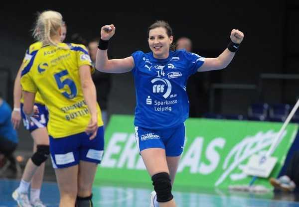 Pokal-Final4: HC Leipzig-Kapitänin Karolina Kudlacz (re.) - Foto: Sebastian Brauner, Sportsnine