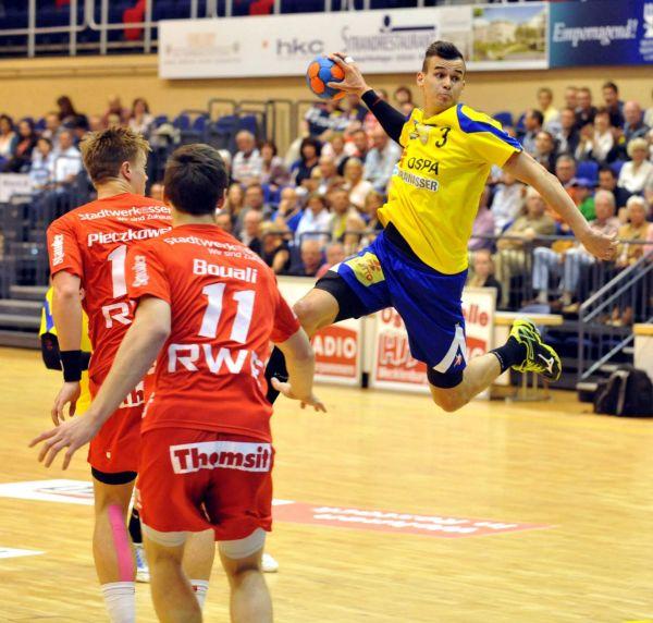 HC Empor Rostock: Roman Becvar war mit sieben Treffern erfolgreichster Empor-Torschütze, gemeinsam mit Oliver Milde - Foto: Olaf Altermann