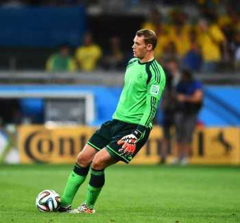 Manuel Neuer (Deutschland) - 2014 FIFA World Cup Brazil Semi Final match between Brazil and Germany at Estadio Mineirao on July 8, 2014 in Belo Horizonte, Brazil. (Photo by Laurence Griffiths/Getty Images)