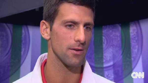 CNN International: Wimbledon-Champion 2014 Novak Djokovic im Sieger-Interview bei Christina MacFarlane - Foto: CNN International