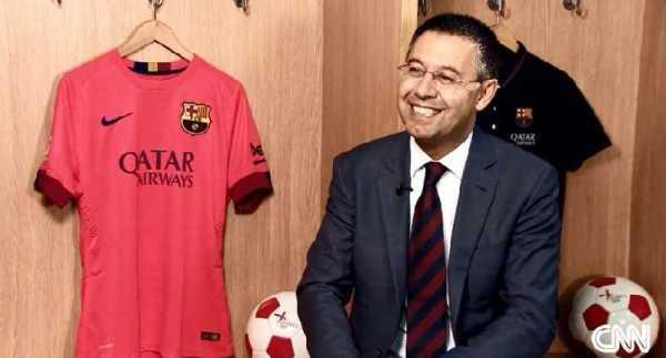 CNN International: Josep Maria Bartomeu, Präsident FC Barcelona, über Lionel Messi, Neymar und Luis Suarez im Interview mit Amanda Davies - Foto: CNN International