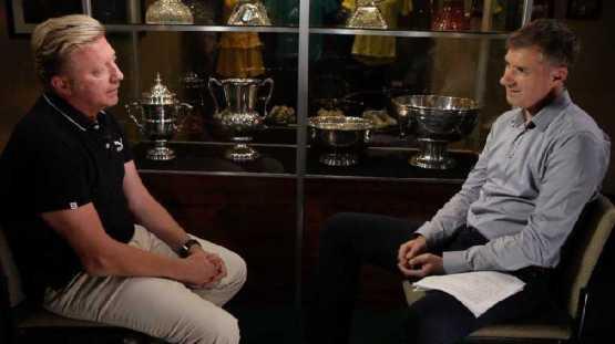 """CNN """"Open Court"""": Boris Becker """"Novak Djokovic ist ein toller Schüler."""" - Boris Becker und Don Riddell - Foto: CNN International """"Open Court"""""""