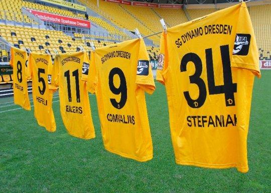 Dynamo Dresden versteigert fünf Sondertrikots - Foto: Dynamo Dresden