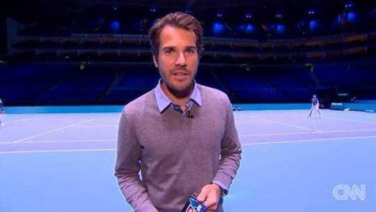 "Tommy Haas hinter den Kulissen der ATP World Tour Finals in Londons O2-Arena - Quelle: CNN International ""Open Court"""