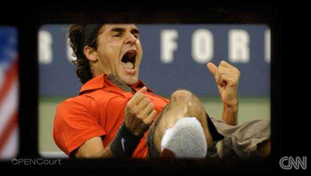 "CNN Open Court: Roger Federer, Rafael Nadal und Andy Roddick im Jahresrückblick - Roger Federer - Foto: CNN International ""Open Court"""