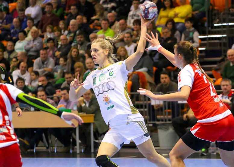 Handball Ungarn: Győri Audi ETO KC überlegen gegen Debrecen - Susann Müller - Foto: Anikó Kovács und Tamás Csonka (Győri Audi ETO KC)