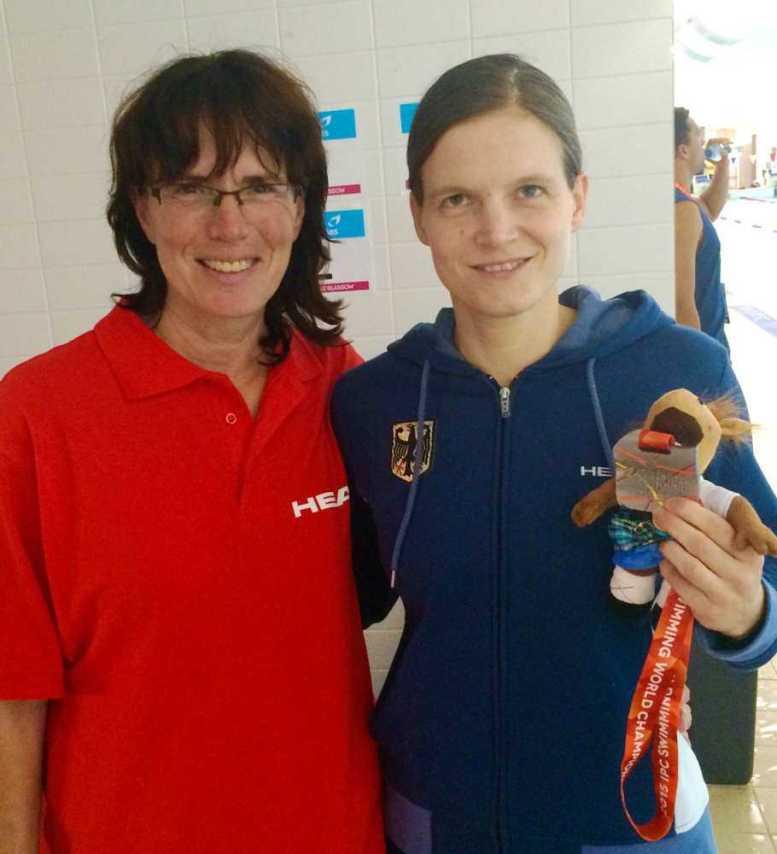 IPC Schwimm-WM 2015: Bundestrainerin Ute Schinkitz und Daniela Schulte - Foto: Foto: Bernhard von Welck