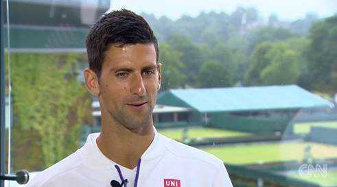 """CNN Open Court: Wimbledon mit Novak Djokovic und Serena Williams - Foto: CNN International """"Open Court"""""""
