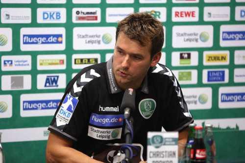 SC DHfK Leipzig Cheftrainer Christian Prokop und künftiger DHB-Bundestrainer - Foto: Karsten Mann