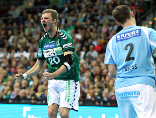 SC DHfK Leipzig vs. Bergischer HC mit mentalem Crunchtime-Sieg - Foto: Elmar Keil