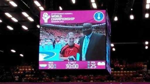 MVP Cornelia Groot - Handball WM 2015 Dänemark - Semifinale: Niederlande souverän gegen Polen - Foto: SPORT4Final