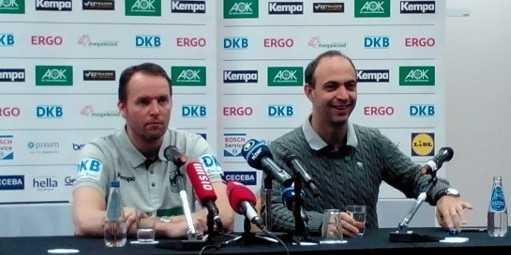 Bob Hanning und Dagur Sigurdsson (li.) beim DHB-Medientag während der Handball EM 2016 in Polen - Foto: SPORT4Final