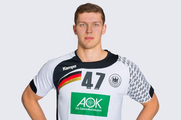 """Handball EHF EURO 2016 Polen Test: Deutschland bezwingt Tunesien mit """"super Signalen"""" - """"Matchplayer"""" Christian Dissinger - Foto: Sascha Klahn/DHB"""