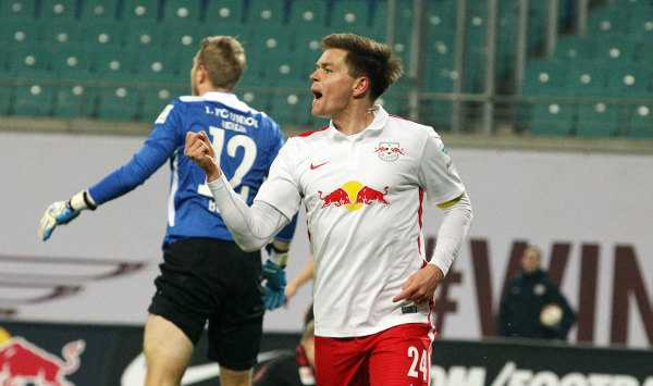 Deutsche Bundesliga, RasenBallsport Leipzig vs. 1. FC Union Berlin - Dominik Kaiser (RB Leipzig) - Foto: GEPA pictures/Sven Sonntag