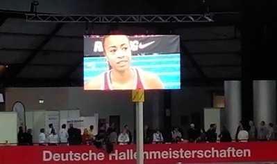 Leichtathletik: Deutsche Hallen-Meisterschaften - Ein Hauch von Olympia in Leipzig - Tatjana Pinto - Foto: SPORT4Final