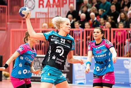 Handball EHF-Cup, TuS Metzingen vs. HC Leipzig am 19.02.2016 in Tübingen - Shenia Minevskaja (23) - Foto: Sebastian Brauner
