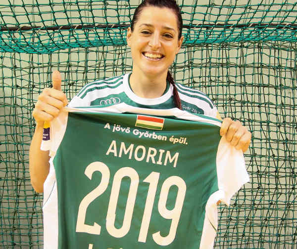 Győri Audi ETO KC: Eduarda Amorim verlängerte bis 2019 - Foto: Anikó Kovács und Tamás Csonka (Győri Audi ETO KC)