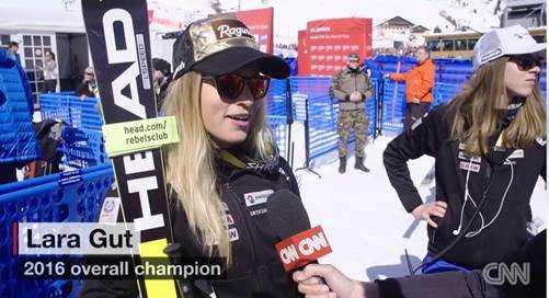 Gesamtsiegerin Lara Gut - Foto: CNN International Alpine Edge
