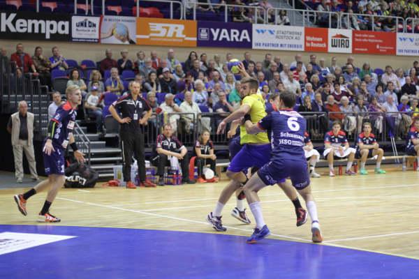 HC Empor Rostock: Kenji Hoevels beim Heimerfolg gegen HSG Nordhorn-Lingen - Foto: HC Empor Rostock