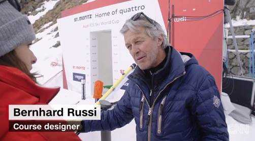 Rennstreckenarchitekt Bernhard Russi - Foto: CNN International Alpine