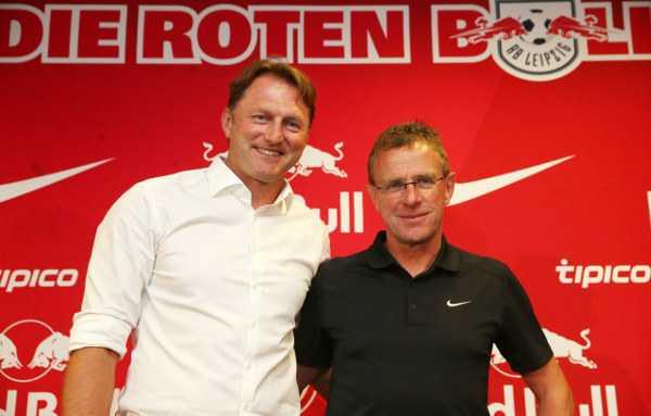 Deutsche Bundesliga, RasenBallsport Leipzig, Ralph Hasenhüttl und Ralf Rangnick (RB Leipzig) - Foto: GEPA pictures/Roger Petzsche