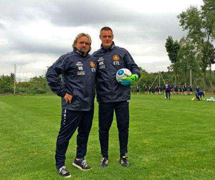 Maik Kischko (re.) und Heiko Scholz - 1. FC Lok Leipzig: Maik Kischko verlängerte - Foto: 1. FC Lok Leipzig