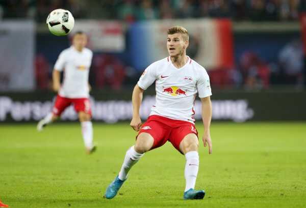 Deutsche Bundesliga, RasenBallsport Leipzig vs. Borussia Mönchengladbach - Timo Werner (RB Leipzig) - Foto: GEPA pictures/Roger Petzsche