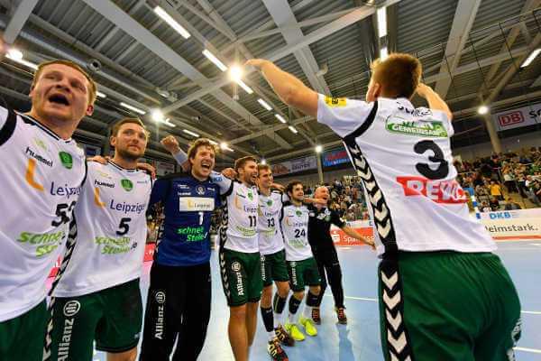 """SC DHfK Leipzig gewann """"Tendenz-Match"""" in Coburg - Foto: Rainer Justen"""