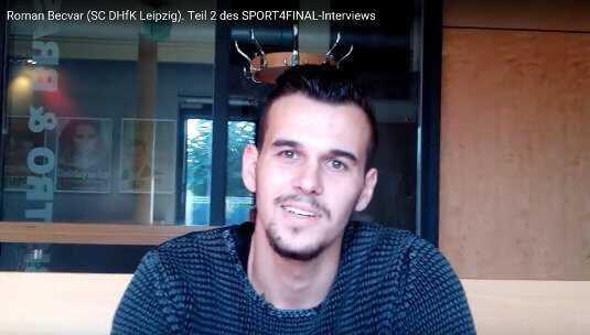 "Roman Becvar (SC DHfK Leipzig) im SPORT4FINAL-Video-Interview: ""FC Barcelona wäre ein Traum"" - Foto: SPORT4FINAL"
