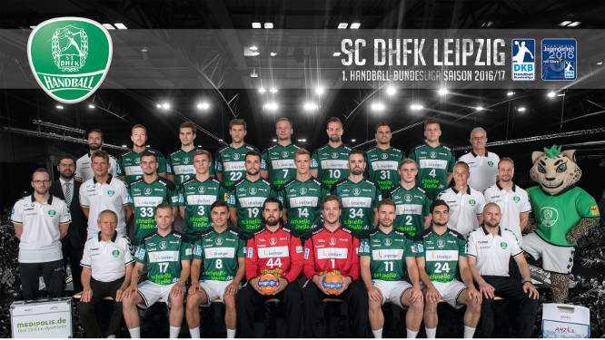 Handball Bundesliga: SC DHfK Leipzig - Mannschaftsfoto 2016/2017 - Foto: SC DHfK Leipzig