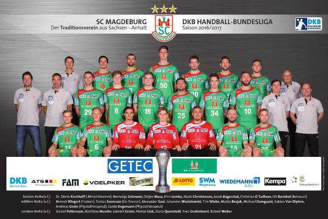 SC Magdeburg - Mannschaftsfoto 2016/2017 - Quelle: SC Magdeburg