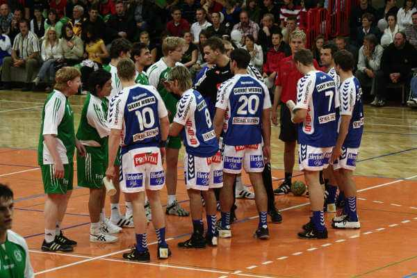 SC DHfK Leipzig vs. TBV Lemgo nach der Neugründung der Leipziger Handballabteilung im Jahr 2007 - Foto: SC DHfK Leipzig