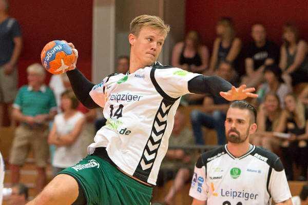 """Niclas Pieczkowski - SC DHfK Leipzig empfängt """"Angstgegner"""" MT Melsungen mit """"Glauben an den Sieg"""" - Foto: Karsten Mann"""