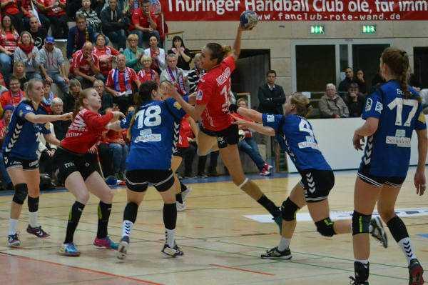 Anika Niederwieser - DHB-Pokal: Thüringer HC im Viertelfinale nach Blomberg-Sieg - Foto: Hans-Joachim Steinbach / Thüringer HC