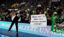 SC DHfK Leipzig schlug GWD Minden glücklich. Christian Prokop emotional im Fan-Fokus