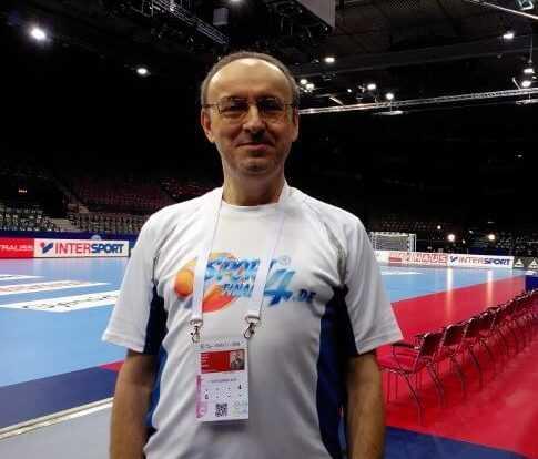 SPORT4FINAL-Redakteur Frank Zepp im Scandinavium Göteborg