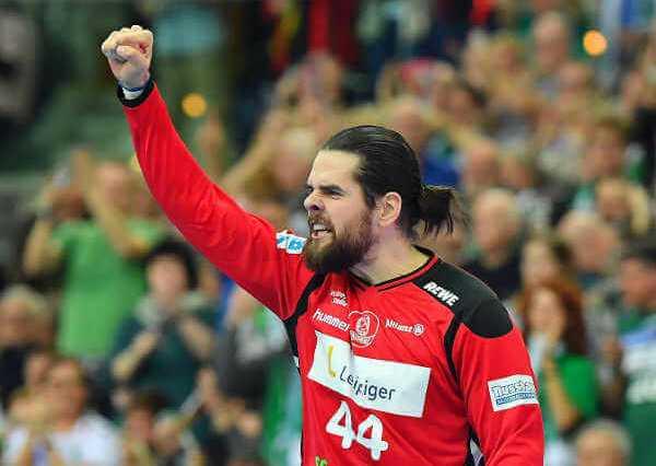 """SC DHfK Leipzig bezwang HSG Wetzlar. Philipp Weber """"Milos Putera machte den Unterschied"""" - Foto: Rainer Justen"""