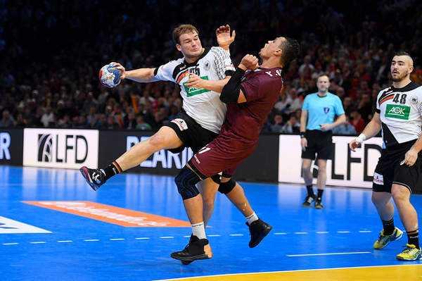 Paul Drux (Deutschland) - Handball WM 2017 Achtelfinale: Deutschland an Katar mit schwächerem Turnier-Match gescheitert - Foto: France Handball