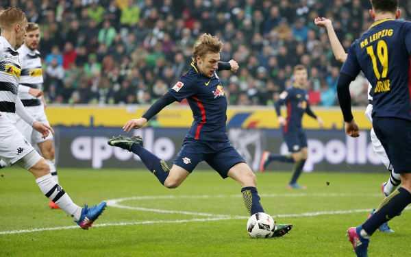 Deutsche Bundesliga, Borussia Mönchengladbach vs. RasenBallsport Leipzig - Emil Forsberg (RB Leipzig) - Foto: GEPA pictures/Roger Petzsche