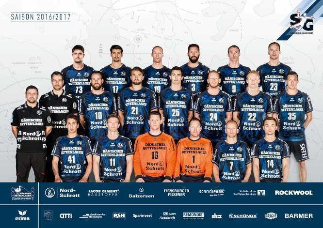 Handball: SG-Flensburg-Handewitt: Mannschaftsfoto 2016/2017 - Foto: SG Flensburg-Handewitt